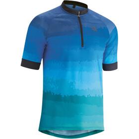 Gonso Pilone Maglia da ciclismo a maniche corte con mezza zip Uomo, blu